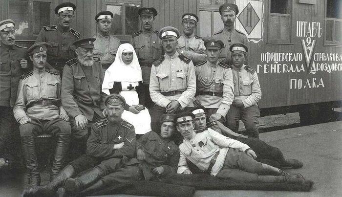Участники Дроздовского полка