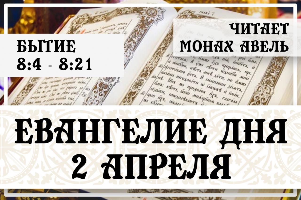 Евангелие дня / 2 Апреля / Бытие 8:4 - 8:21