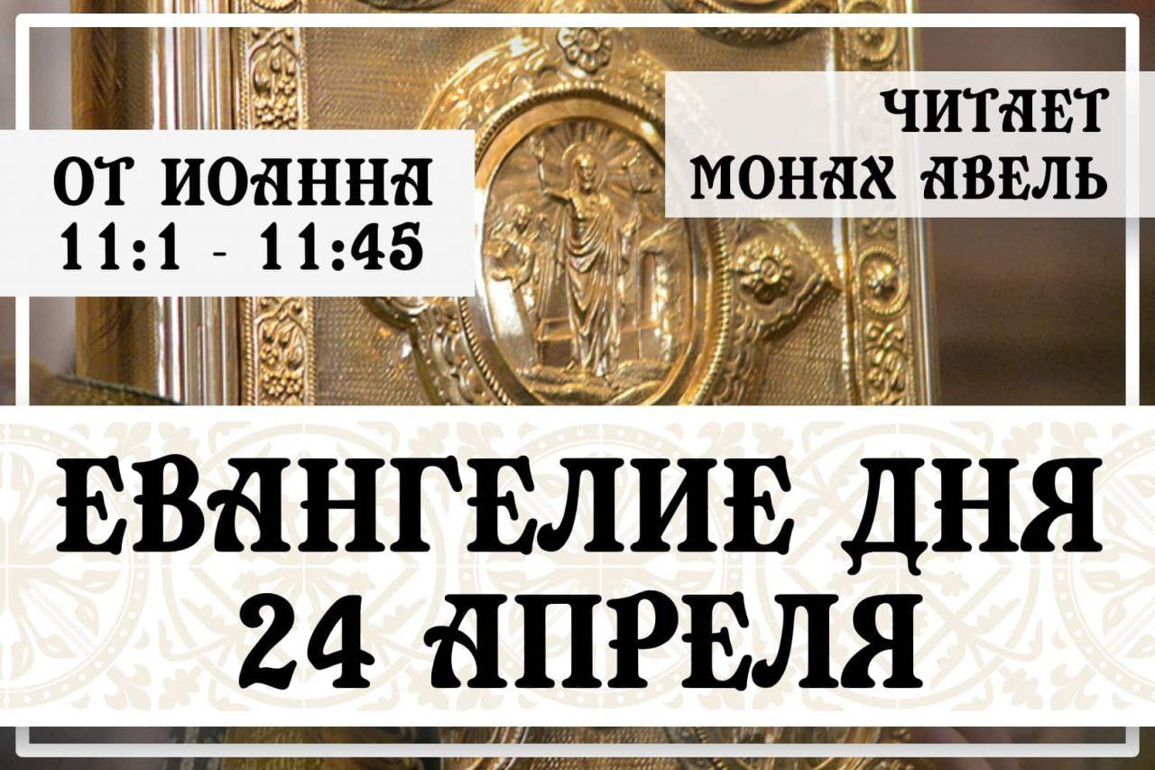 Евангелие дня / 24 Апреля / От Иоанна 11:1 - 11:45