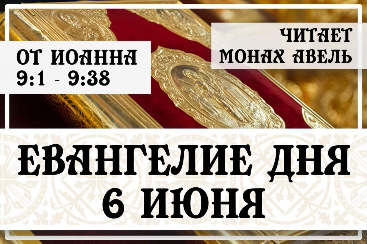 Евангелие дня / 6 июня 2021 / Ин.9:1 - 9:38