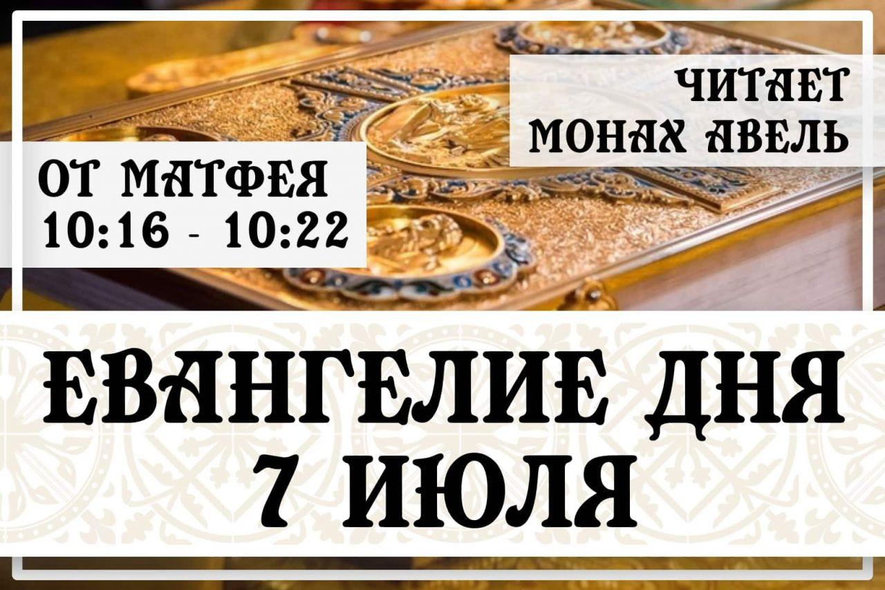 Евангелие дня / 7 июля 2021 / Мф.10:16 - 10:22